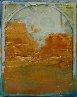 Arch III by Helene Steene. (Abstract Mixed Media Painting)