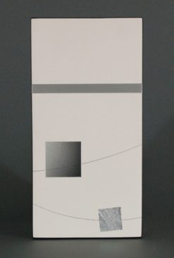 Box Drawing 5 by James Aarons. (Ceramic Wall Sculpture)