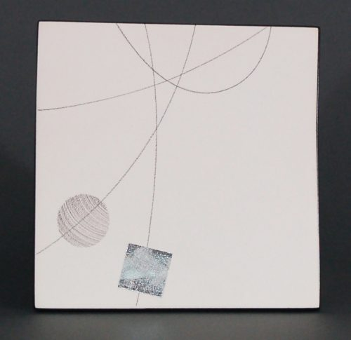 Box Drawing 1 by James Aarons. (Ceramic Wall Sculpture)