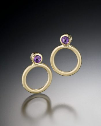 Charm Earrings by Ilene Schwartz. (Hand-made gold Earrings)
