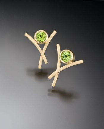 Dancing X Earrings by Ilene Schwartz. (Hand-made Silver Earrings)