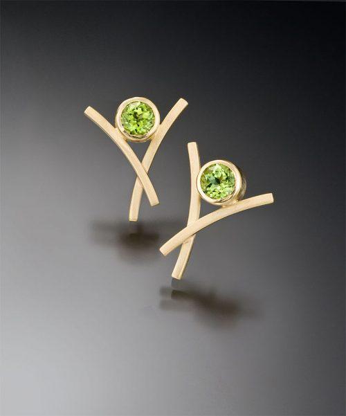 Dancing X Earrings by Ilene Schwartz. (Hand-made Silver Earrings)