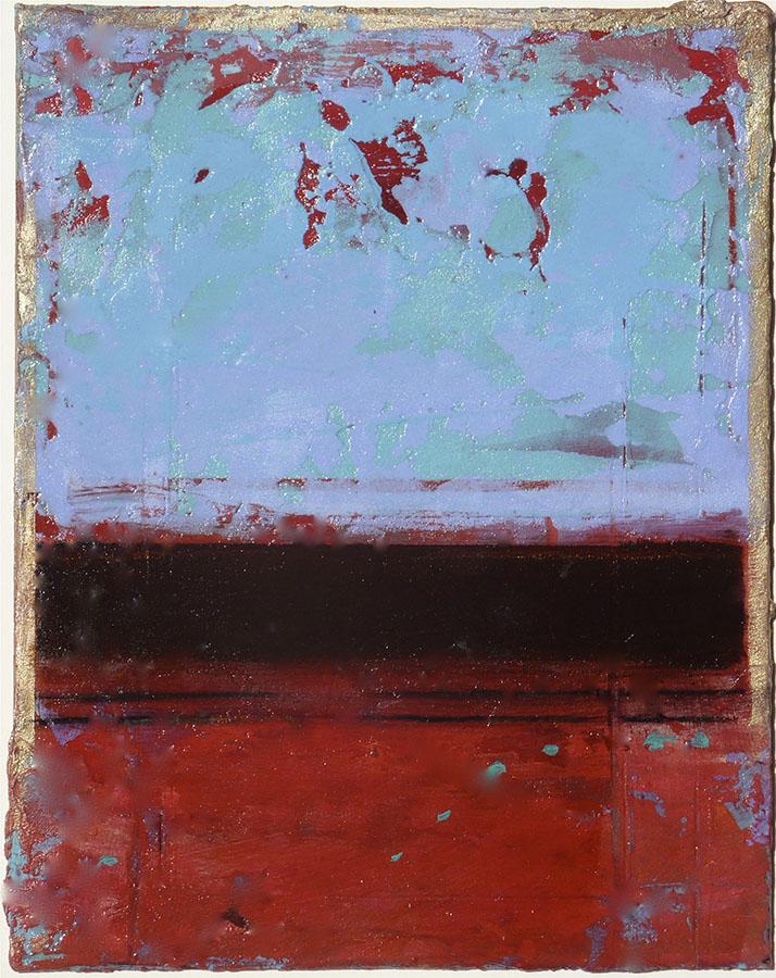 Fresco III by Helene Steene. (Abstract Mixed Media Painting)