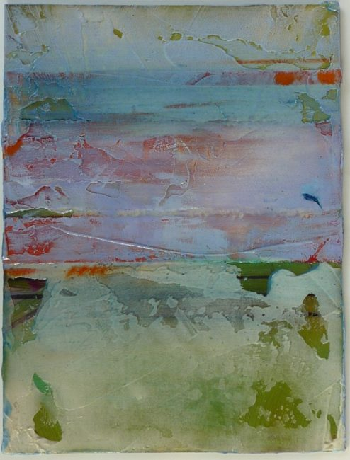 Fresco XII by Helene Steene. (Abstract Mixed Media Painting)