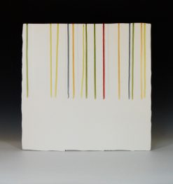 Line Green and Gold by James Aarons. (Ceramic Wall Sculpture)