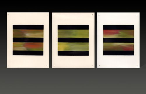 Loose Leaf Triptych by James Aarons. (Ceramic Wall Sculpture)