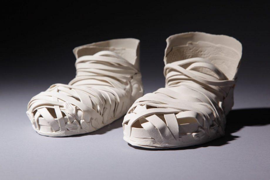 Slogging On by Inge Roberts. (European Ceramic Sculpture)