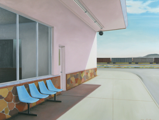Southwest Station by Matt Condron. (Oil Painting)