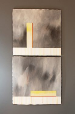 Storm Diptych by James Aarons. (Ceramic Wall Sculpture)