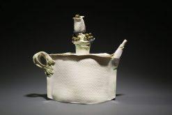 T, black Pearls by Inge Roberts. (Stoneware Porcelain Vessel)