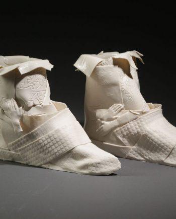 Whiter Boots by Inge Roberts. (European Ceramic Sculpture)