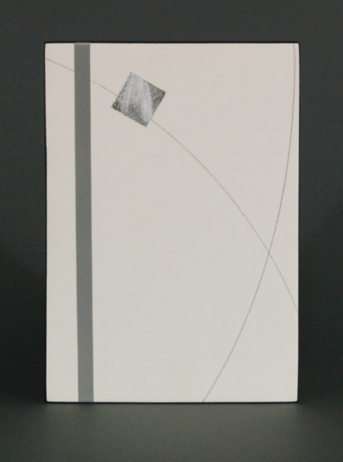 Box Drawing 2 by James Aarons. (Ceramic Wall Sculpture)