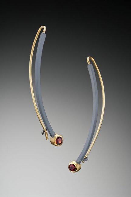 Face Framer Earrings by Ilene Schwartz. (Hand-made Silver Earrings)