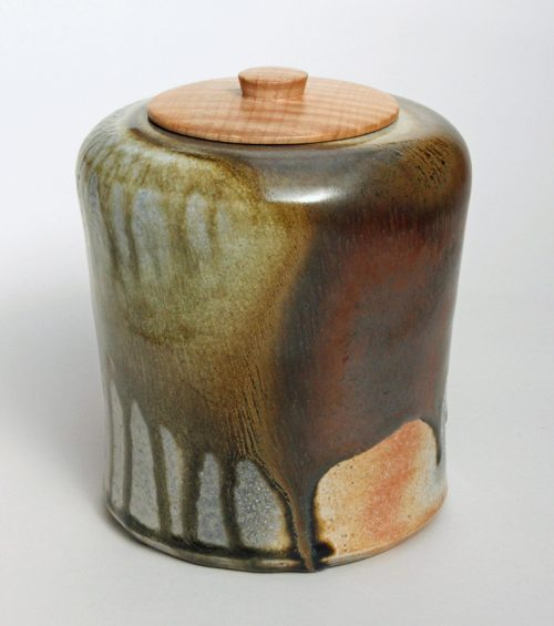 Lidded Vessel 1 by David Zdrazil. (Stoneware Ceramic Vessel)