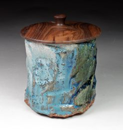 Lidded Vessel 2 by David Zdrazil. (Stoneware Ceramic Vessel)