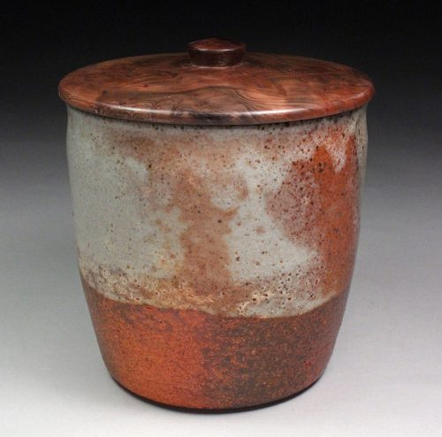Lidded Vessel 3 by David Zdrazil. (Stoneware Ceramic Vessel)