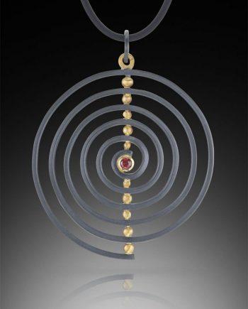 Spiral Pendant by Ilene Schwartz. (Hand-made Silver pendant)