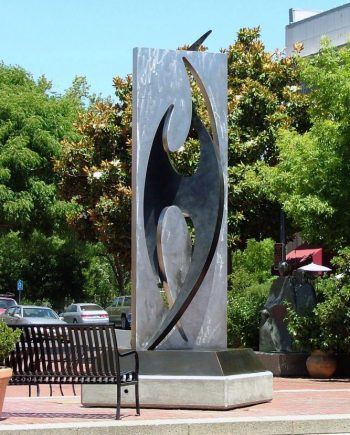 Bird. Abstract Steel Sculpture by Riis Burwell
