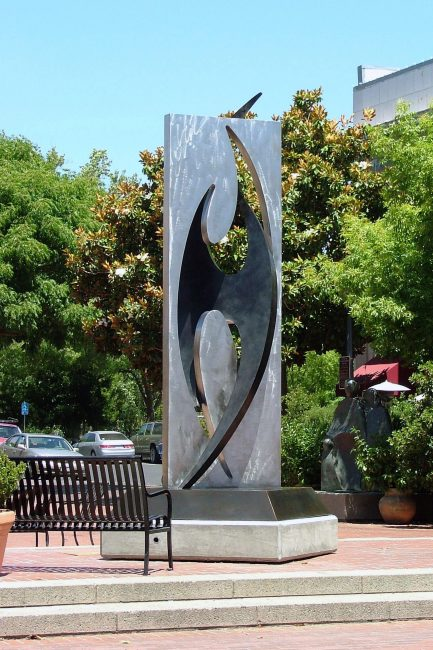 Bird. Abstract Steel Sculpture by Riis Burwell