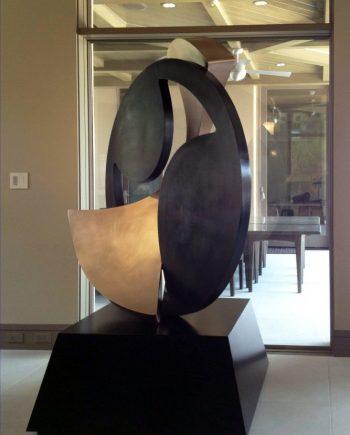 Clockwork. Abstract Steel Sculpture by Riis Burwell