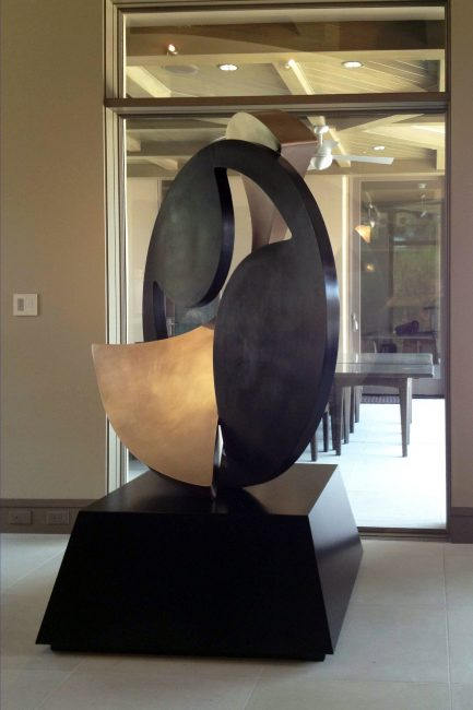 Clockwork. Abstract Steel Sculpture by Riis Burwell