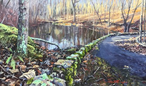 Fall Creek Falls. Oil Painting by Sharon Rusch Shaver