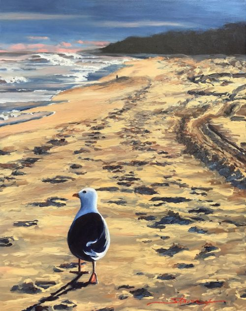 Follow Me. Oil Painting by Sharon Rusch Shaver