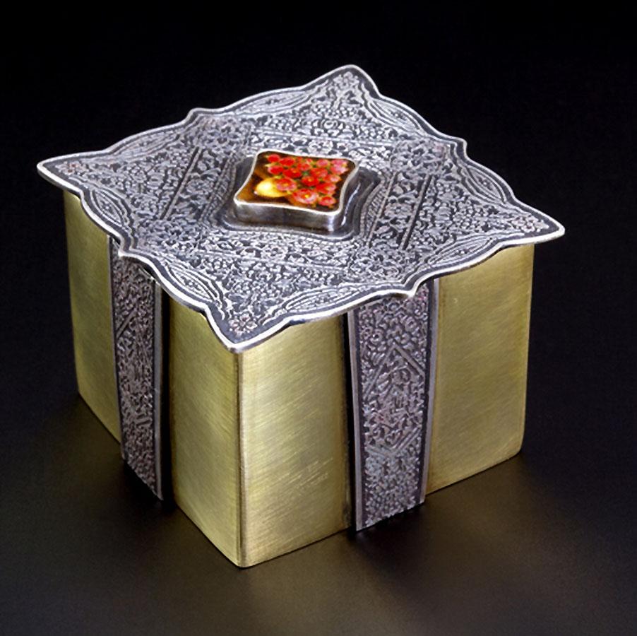 Chinoiserie Box. Art Jewelry by Carol Salisbury
