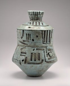 Turquoise Vessel. Ceramic Sculpture by Boyan Moskov.