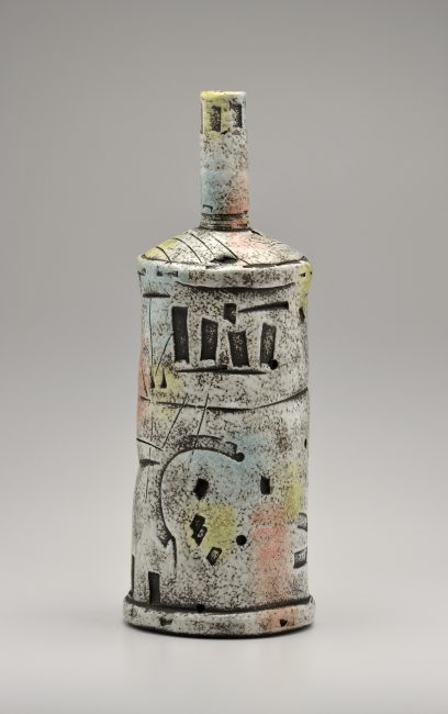 Bottle. Ceramic Sculpture by Boyan Moskov.