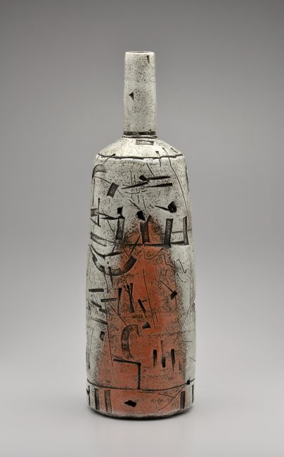 Long Neck Bottle. Ceramic Sculpture by Boyan Moskov