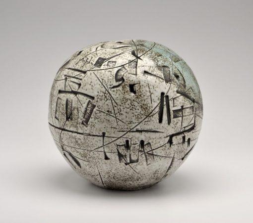 Small Closed Form. Ceramic Sculpture by Boyan Moskov.