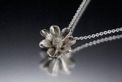 Floral Pendant. Art Jewelry by Carol Salisbury