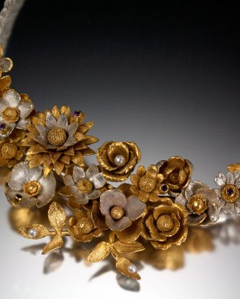 Flower Basket Necklace. Art Jewelry by Carol Salisbury