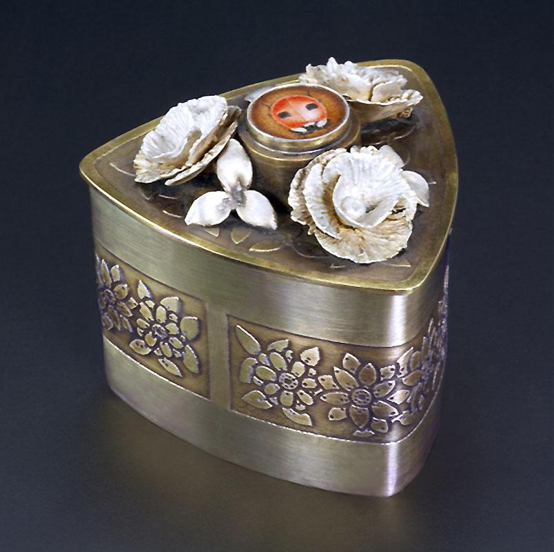 Lady Bug Box. Art Jewelry by Carol Salisbury