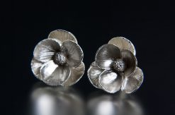Poppy Earrings. Art Jewelry by Carol Salisbury