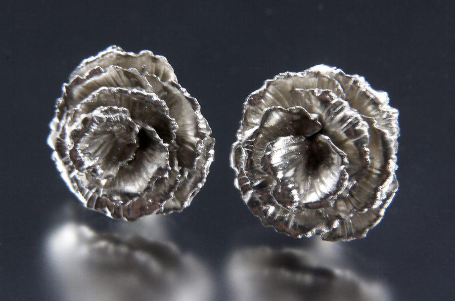 Rose Earrings. Art Jewelry by Carol Salisbury