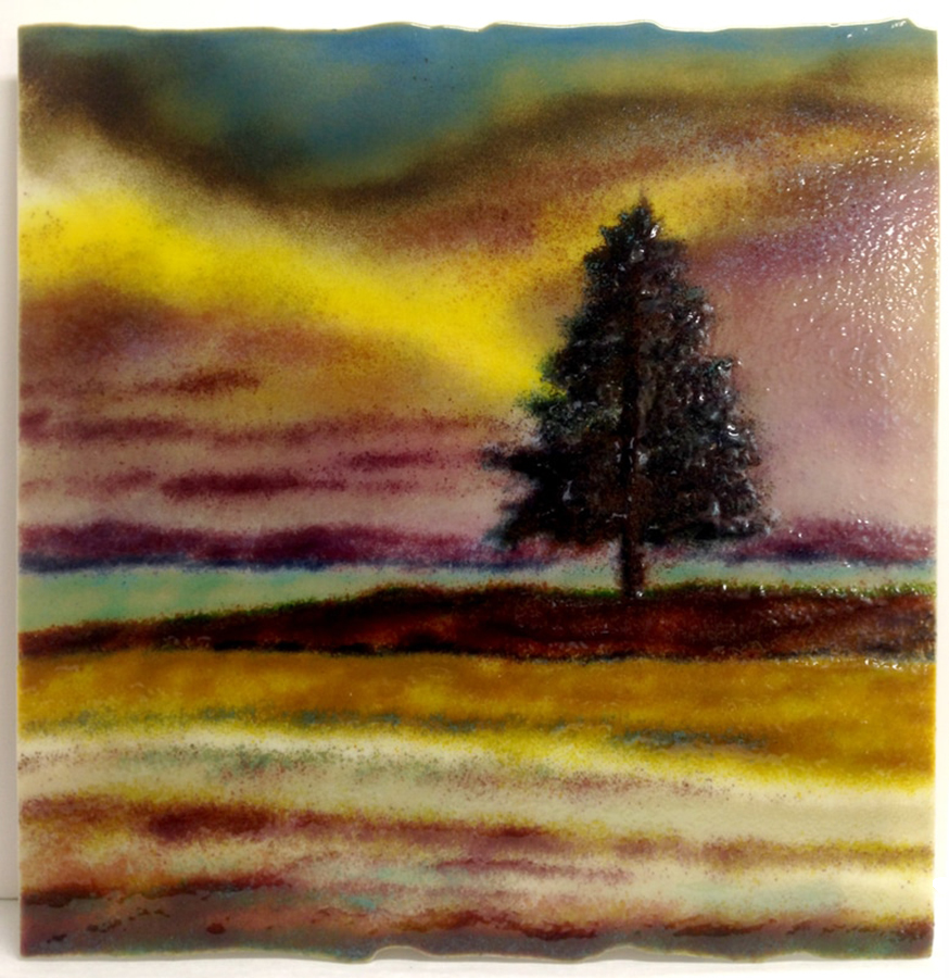 First Light. Glass Wall Art by Anne Nye