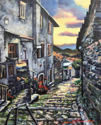 Painting in Italy. Oil Painting by Sharon Rusch Shaver