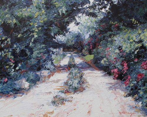 Rose Road. Oil Painting by Sharon Rusch Shaver