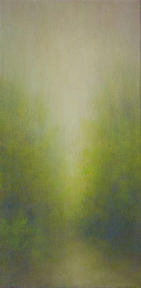 First Light April. Oil Painting by Sharon Rusch Shaver