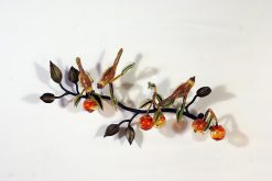 Birds with Fruit by Loy Allen (Glass Wall Sculpture)