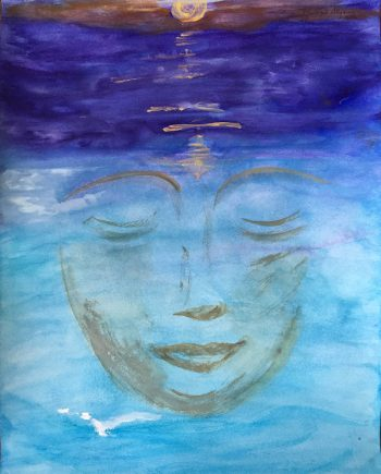 Being Peace by Marilyn Allysum (Watercolor Painting)