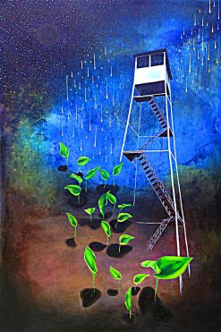 Fire Tower by Cheryl Joan Askegreen (Oil Painting)
