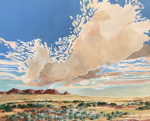 Cirrus Cloud at Zuni by Douglas Atwill (Acrylic Painting)