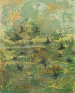 Migration Over Wetlands by Jan Bernard (Oil Painting)