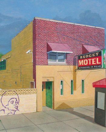 Budget Motel, Gary, Indiana by Art Ballelli (Acrylic Painting)