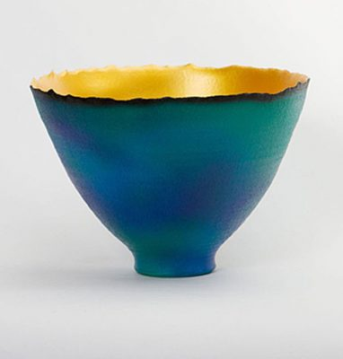 Blue-Green Mottled Gold Prosperity Bowl IMG_0017-