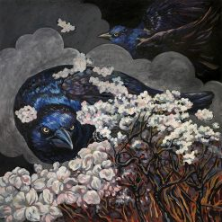 Grackle Warning by Lori Bradley (Acrylic Painting)