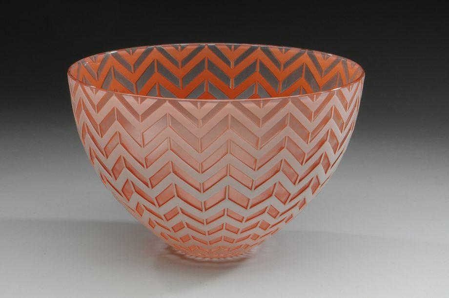 Chevron Bowl. Art Glass Bowl by Carrie Gustafson